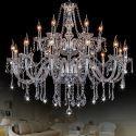Kronleuchter Europäisch Transparenter Kristall Kerzen Design für Wohnzimmer