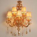 Wandleuchte Kristall Europäischer Stil Kerzen Design 5 flammig für Wohnzimmer