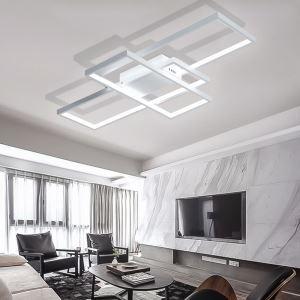 Led Deckenleuchte Geometrisch Design in Weiß oder Schwarz