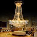 Europäische Kristall Hängelampe für Säle Luxus Stil