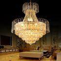 Europäische Kristall Hängelampe für Wohnzimmer Luxus Stil