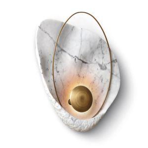 Led Wandleuchte Muschel Design für Wohnzimmer