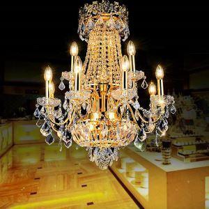 Kristall Kronleuchter Kerzen Design Für Wohnzimer Luxus Stil