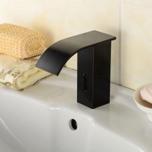 Zeige Details für Waschtischarmatur Elektronisch Sensor Wasserhahn in Schwarz