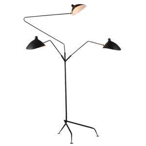 Kreative Stehleuchte 3 flammig Hut Design aus Eisen in Schwarz