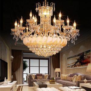 Luxus Kristall Kronleuchter Kerzen Design für Esszimmer