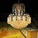 Modern Kristall Pendelleuchte Golden für Wohnzimmer