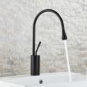 Wasserhahn Einhebel Tropfen Design in schwarz