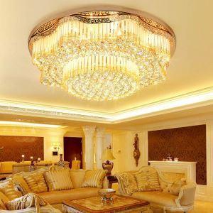 Moderne Led Deckenleuchte Kristall Runded Design