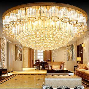 Europäische Deckenleuchte LED Kristall Rund Luxus Stil