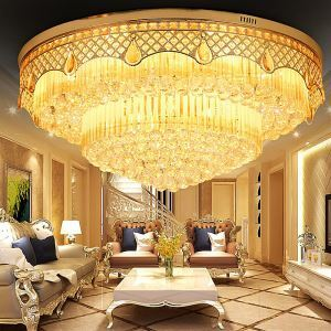 Europäische LED Kristall Deckenleuchte Rund Luxus Stil
