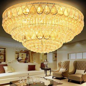 LED Kristall Deckenleuchte Rund Luxus Stil