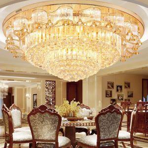 Europäische Kristall Deckenleuchte LED Rund für Wohnzimmer