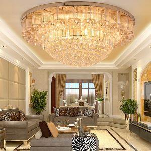 LED Kristall Deckenleuchte Rund für Wohnzimmer Moderne Stil