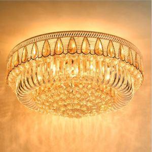 LED Kristall Deckenleuchte Rundes Design für Wohnzimmer