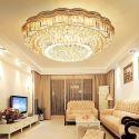 Europäische LED Kristall Deckenleuchte Rund für Wohnzimmer