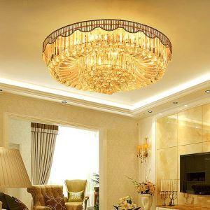 LED Kristall Deckenleuchte Rund für Wohnzimmer