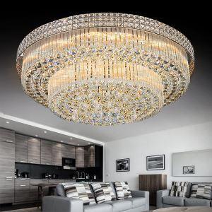 LED Kristall Deckenleuchte Rund für Wohnzimmer Modern