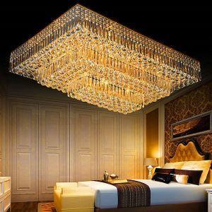 LED Deckenleuchte Kristall Rechteckig für Wohnzimmer