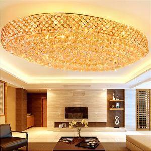 Moderne LED Deckenleuchte Kristall Oval für Säle Luxus