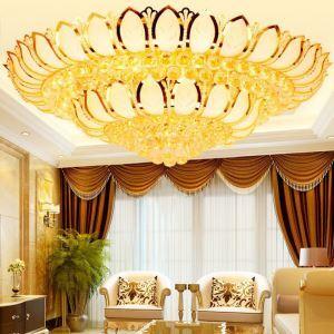LED Deckenleuchte Kristall Lotosblume Design Golden