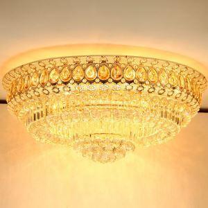 Europäische Deckenleuchte Kristall Rund Luxus Stil