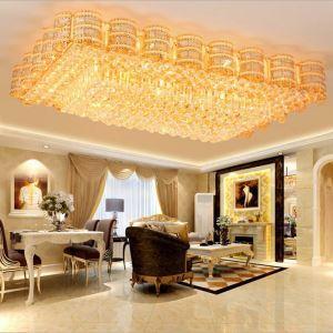 LED Deckenleuchte Kristall Eckig Luxus Stil