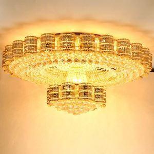 LED Deckenleuchte Kristall Rund Luxus Stil