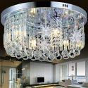 Moderne LED Deckenleuchte Kristall Rund mit Sterne