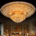 Europäische Deckenleuchte Kristall Rund Bunte Für Wohnzimmer