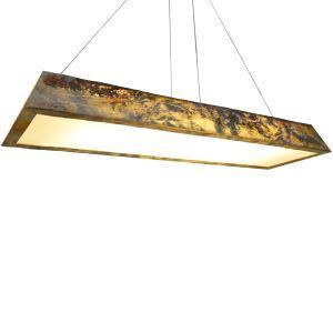 Led Hängeleuchte Naturstein Design 3D Effekt 48W für Wohnzimmer - Originell Design