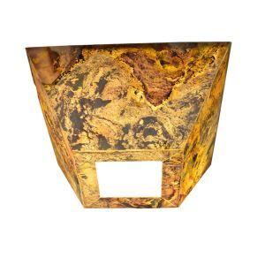 Led Deckenleuchte Natur Stein Design 3D Effekt für Esszimmer