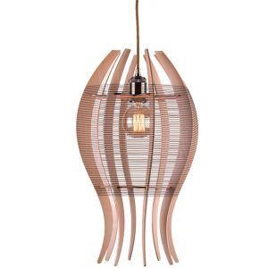 Pendelleuchte Skandinavisch aus Holz Fisch Design 1 flammig für Küche