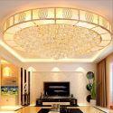 Moderne LED Deckenleuchte Kristall Rund für Wohnzimmer