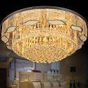 Moderne Kristall Deckenleuchte Rund für Wohnzimmer