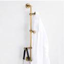 Mantelhaken aus Messing Wandmontage H60cm