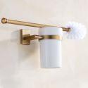 WC Bürstenhalter aus Messing Golden Bad Accessoires