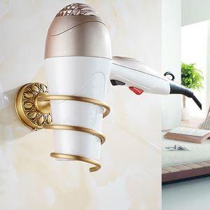 Europäisch Fönhalter Antik Messing für Badezimmer