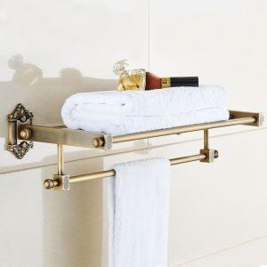 Handtuchhalter Handtuchablage Antik Messing Badzubehör