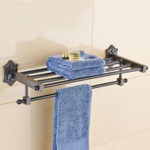 Handtuchhalter Handtuchablage Antik Schwarz Badzubehör