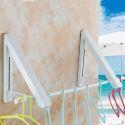Wäscheständer faltbar Wandmontage für Balkon in schwarz/ weiß