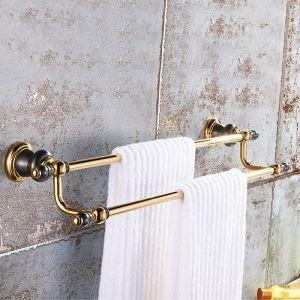 Handtuchstange Doppelt Handtuchhalter aus Messing Vintage