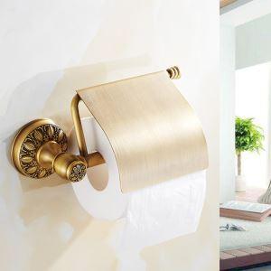 Toilettenpapierhalter mit Deckel Wandmontage Antik Messing