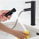Wasserhahn Ausziehbar Retro Schwarz für Waschtisch