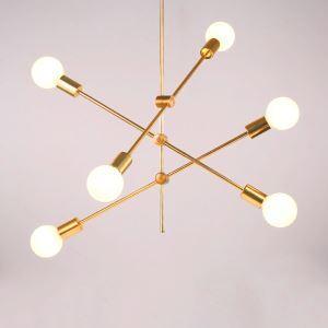 Hängelampe Modern Magische Bohne Design 6 flammig in Gold