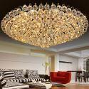 Europäische Kristall Deckenleuchte Rund für Wohnzimmer