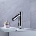 Sensor Wasserhahn aus Messing Chrom für Bad Modern