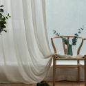 Japanisch Gardine Unifarbe aus Leinen und Polyester im Wohnzimmer