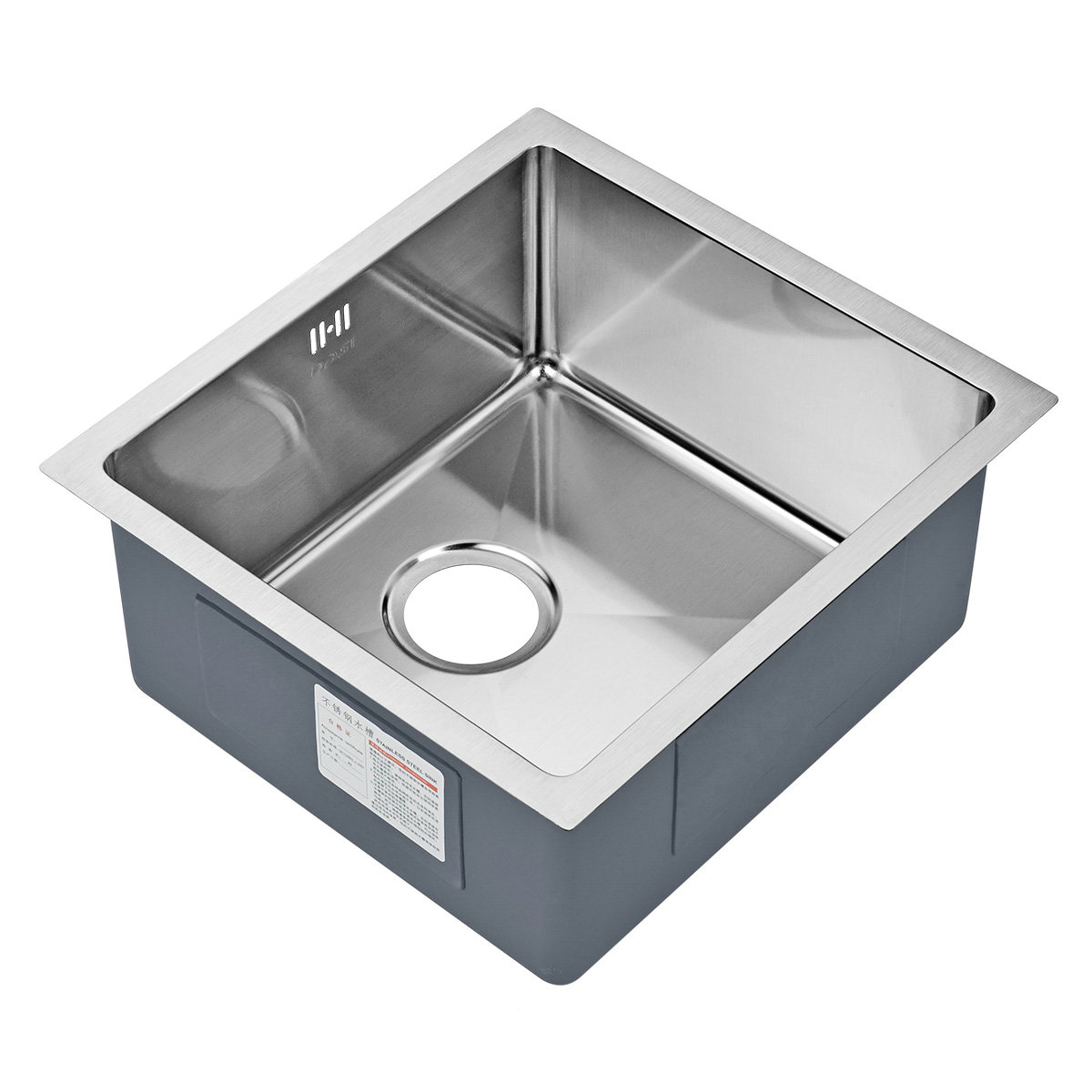 Einbauspüle Edelstahl Spülbecken Modern für Küche HM19