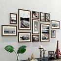 Wand Bilderrahmen aus Holz 12er - Set Modern Style